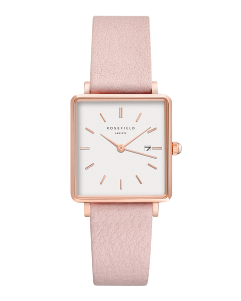Rosefield-The Boxy White Pink Rosegold-Watch-RF-QWPR-Q11-THE UNIT STORE