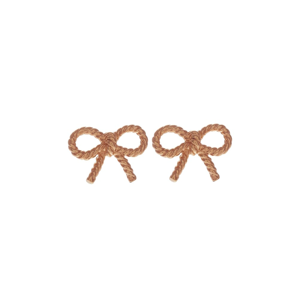 OLIVIA BURTON-Vintage Bow Earrings Rose Gold-Jewellery-OBJ16VBE02-THE UNIT STORE