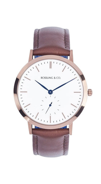 Rossling & Co.-Modern 36mm Westhill Gold White Brown Leather-Watch-RO-003-001-THE UNIT STORE