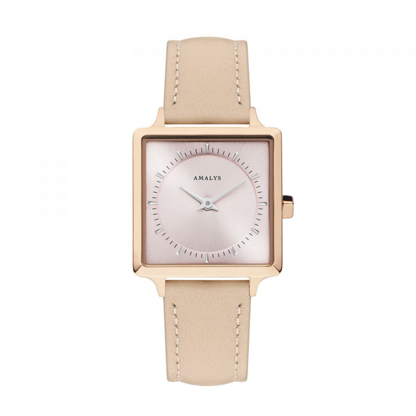 Amalys-Rose Sunray Pink/Rose Gold/Pink Leather/25mm-Watch-AMW-020-THE UNIT STORE
