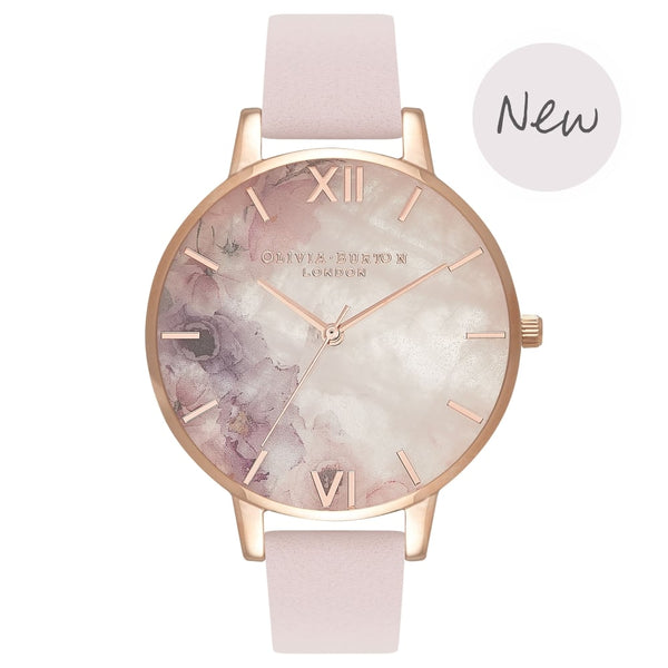Semi Precious Blossom Big Dial & Rose Gold