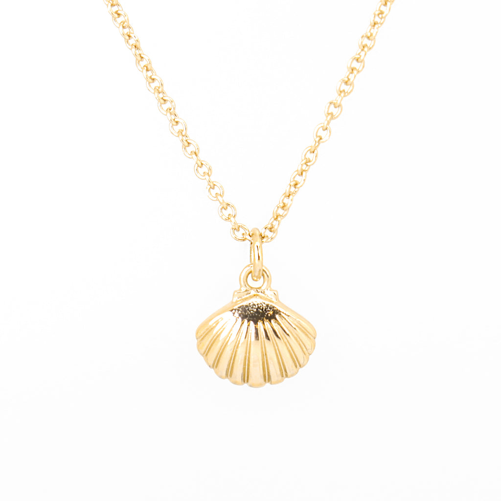 Cirque Poesie-Scallop Shell Necklace Gold-Jewellery-CP-NL-SCA-G-00-THE UNIT STORE