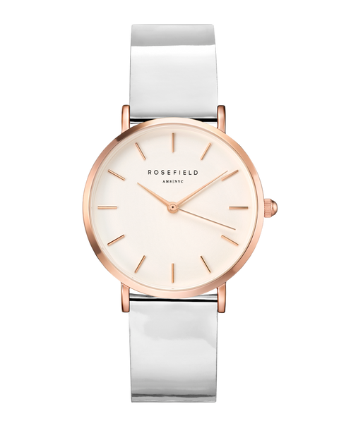 Rosefield-Premium Gloss White Metallic Rosegold 33mm-Watch-RF-SHMWR-H35-THE UNIT STORE