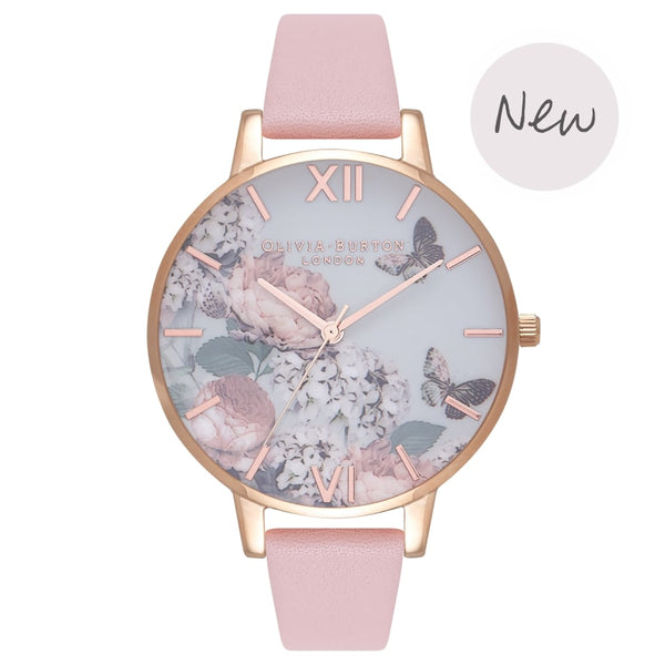 OLIVIA BURTON-Signature Florals Dusty Pink & Rose Gold-Watch-OB16WG40-THE UNIT STORE