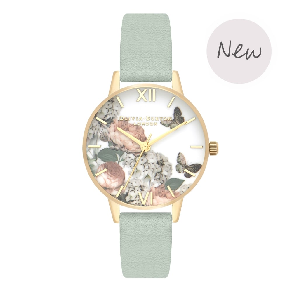 OLIVIA BURTON-Signature Florals Sage & Gold-Watch-OB16WG50-THE UNIT STORE