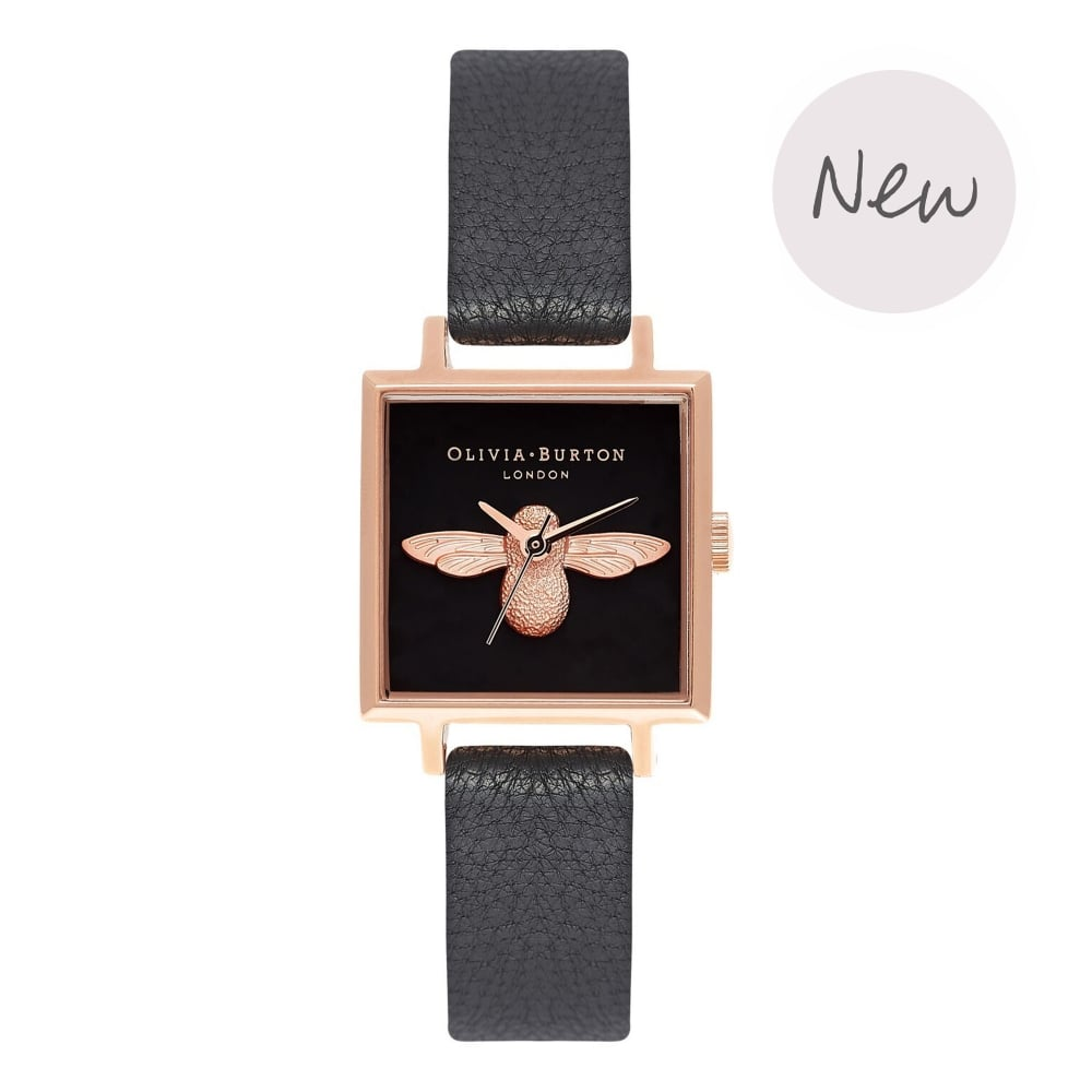 3D Bee Black & Rose Gold__OLIVIA BURTON_Watch_THE UNIT STORE