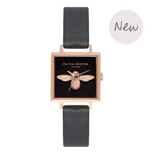 OLIVIA BURTON-3D Bee Black & Rose Gold-Watch-OB16AM128-THE UNIT STORE