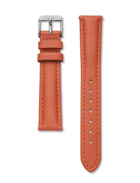 Rosefield-Stitched Tangerine Silver Strap-Watch Strap-RF-STSS-S145-THE UNIT STORE