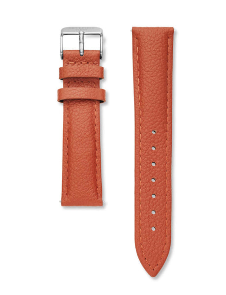 Rosefield-T Stitched Tangerine Silver Strap-Watch Strap-RF-TSTS-S148-THE UNIT STORE