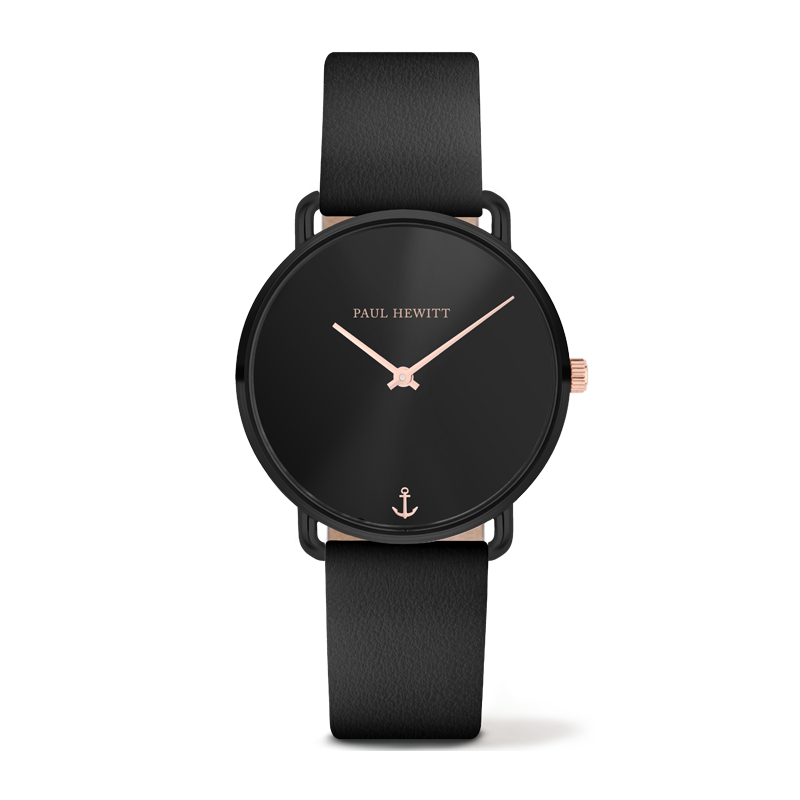 Paul Hewitt-Miss Ocean Black Sunray Leather Black-Watch-PH-M-B-BS-32S-THE UNIT STORE