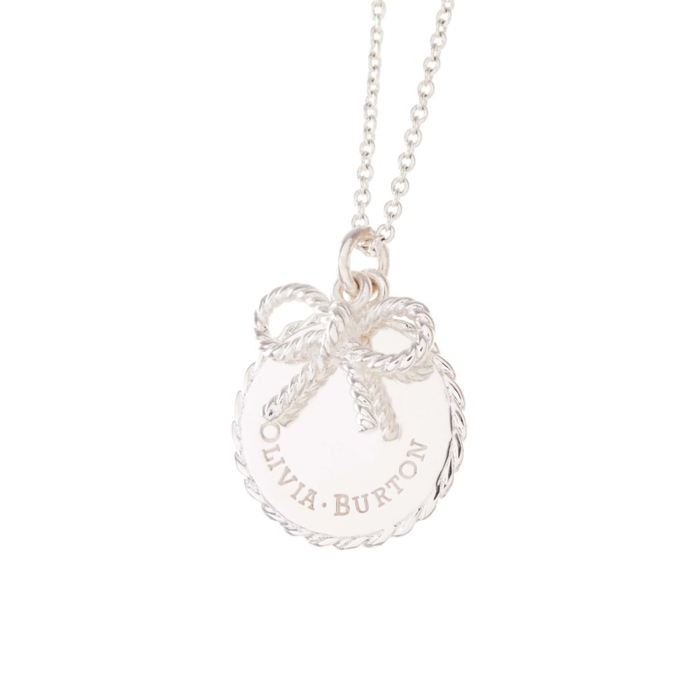 OLIVIA BURTON-Vintage Bow Coin And Bow Necklace Silver-Jewellery-OBJ16VBN03-THE UNIT STORE