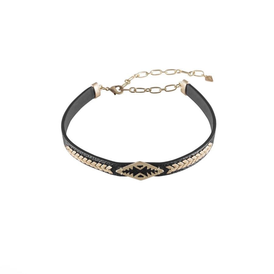 Aztec Gold & Black Choker