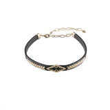 Wanderlust + Co-Aztec Gold & Black Choker-Jewellery-W-N507G/BK-THE UNIT STORE