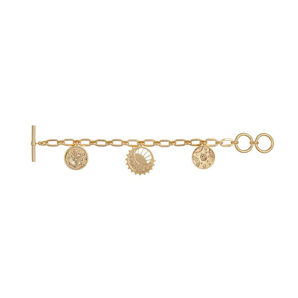 Wanderlust + Co-Out of this World Toggle Gold Bracelet-Jewellery-W-W637G-THE UNIT STORE