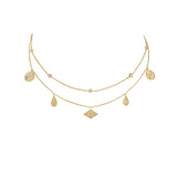 Wanderlust + Co-Galaxy Charms Gold Necklace-Jewellery-W-N633G-THE UNIT STORE