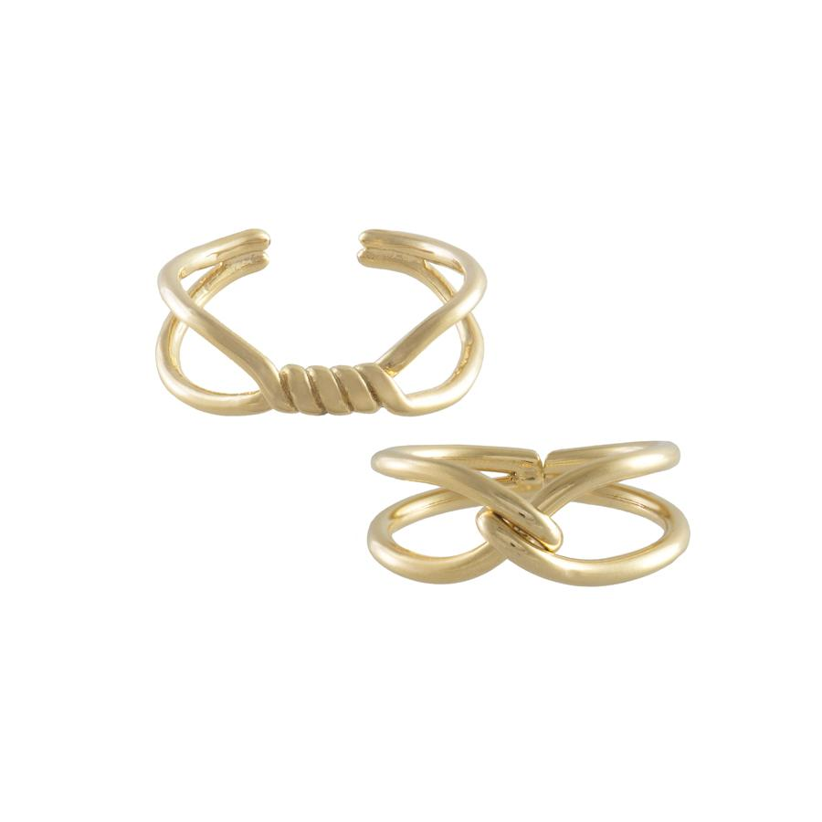 Wanderlust + Co-Can-you-knot Ring Set-Jewellery-W-R589G-THE UNIT STORE
