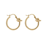Wanderlust + Co-Forget-Me-Knot Gold Hoop Earrings-Jewellery-W-E585G-THE UNIT STORE