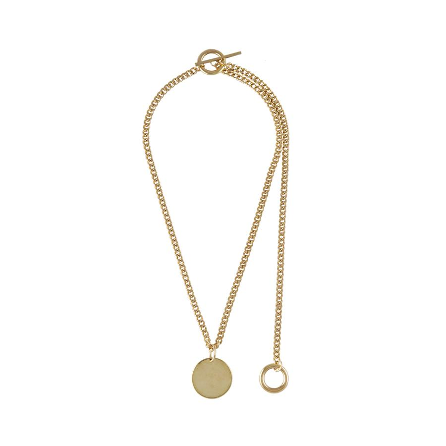 Wanderlust + Co-Connect Circle Toggle Gold Necklace-Jewellery-W-N620G-THE UNIT STORE