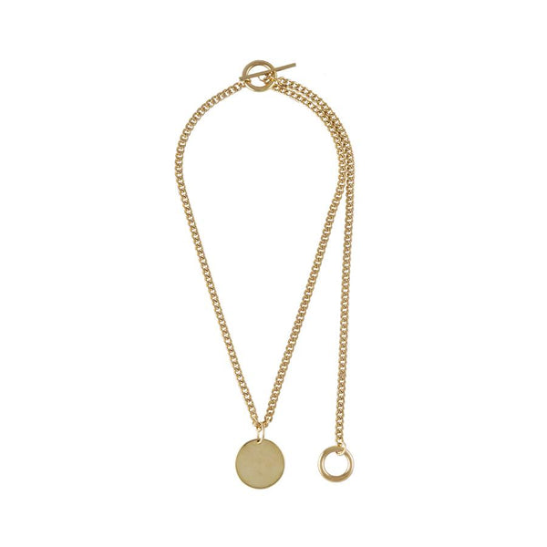 Wanderlust + Co Connect Circle Toggle Gold Necklace W-N620G
