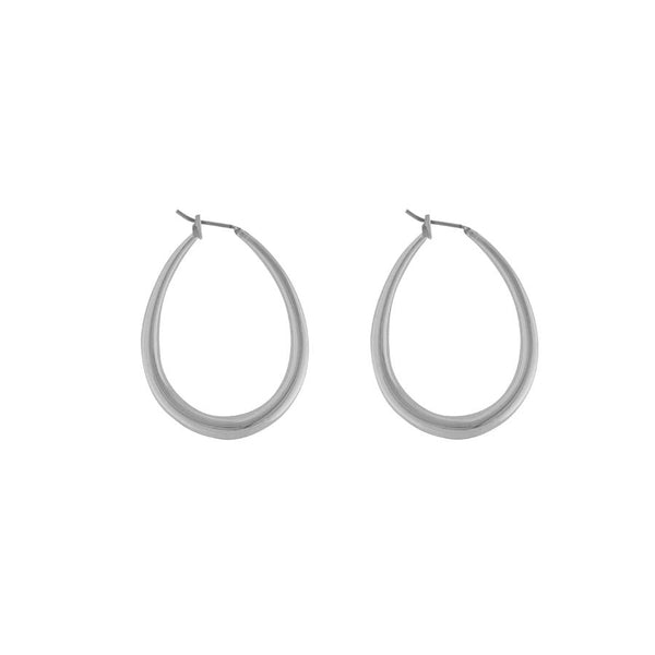 Wanderlust + Co-Cora Oval Silver Earrings-Jewellery-W-E609S-THE UNIT STORE