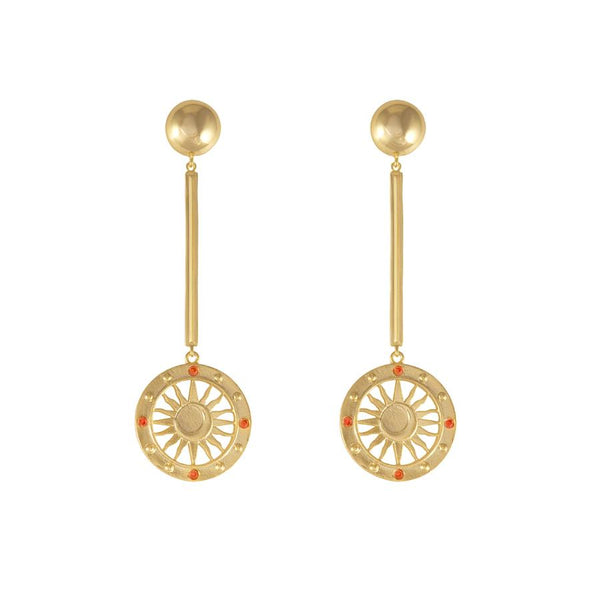 Wanderlust + Co-Solis Gold Drop Earrings-Watch-W-E686G-THE UNIT STORE