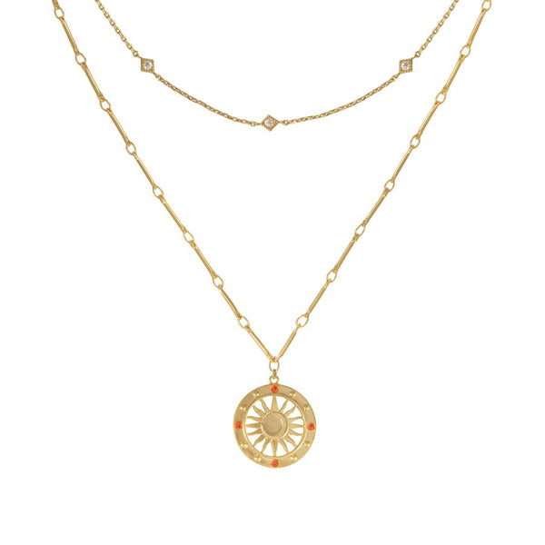Wanderlust + Co-Solis Gold Necklace-Watch-W-N688G-THE UNIT STORE