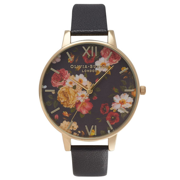 OLIVIA BURTON-Winter Garden Black & Gold-Watch-OB14WG01-THE UNIT STORE
