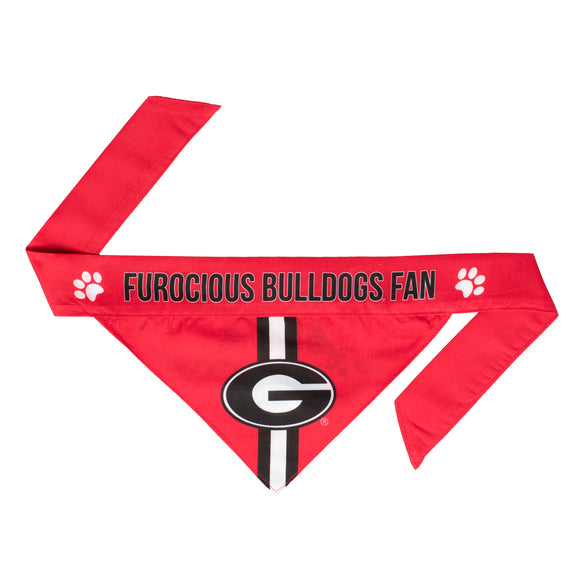 Georgia Bulldogs Dog Bandana – Tie On - Dawn's Doggy Duds