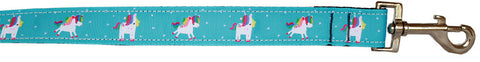 Mirage Pet Products Blue Unicorn Nylon Dog Leash