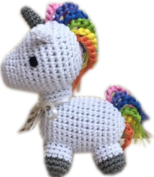 Knit Knacks Mystic the Magic Unicorn Organic Cotton Small Dog Toy