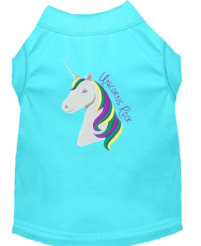 Mirage Pet Products Unicorns Rock Embroidered Dog Shirts