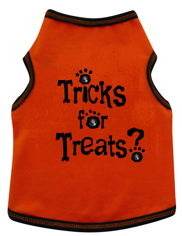 I See Spot Tricks For Treats Dog Tank-Orange