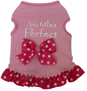 Little Miss Perfect Tank Dress Light Pink - Dawn's Doggy Duds