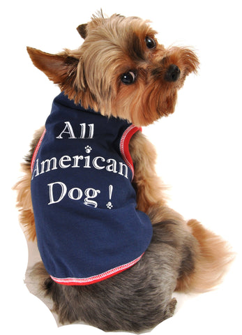 All American Dog Tank Navy