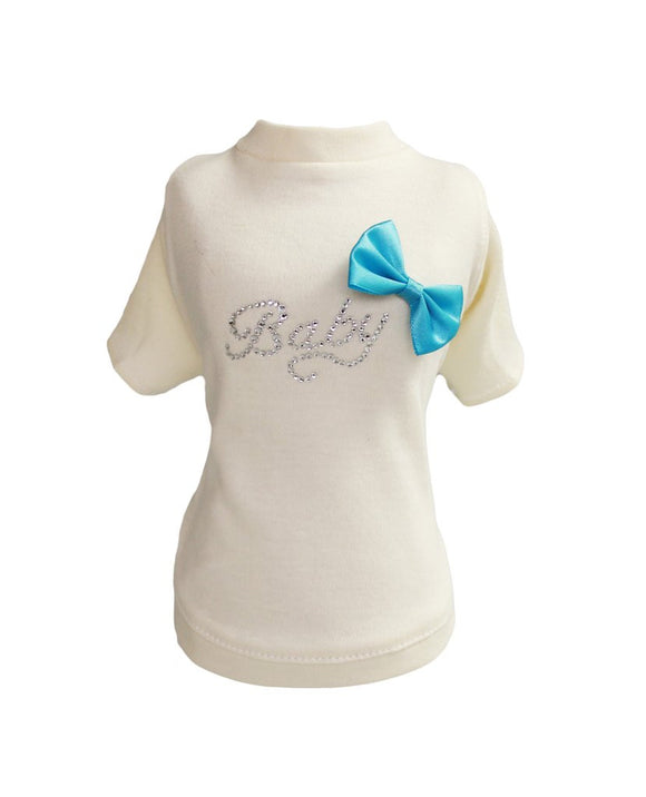 Baby Bow Tee - Dawn's Doggy Duds