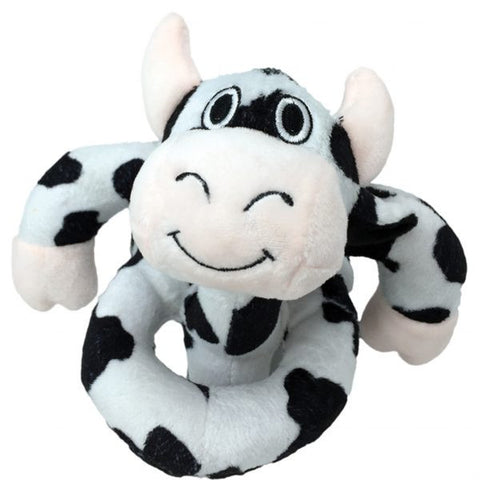 "Loopies 8"" Black & White Cow - Dawn's Doggy Duds"