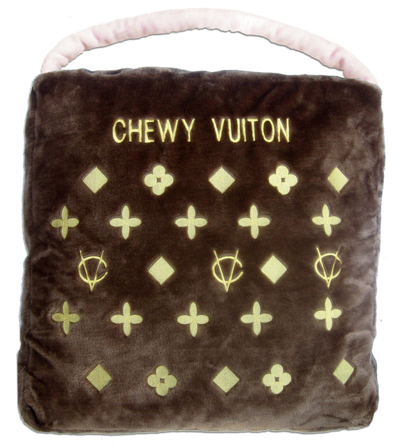 Chewy Vuiton Bed, Brown - Dawn's Doggy Duds