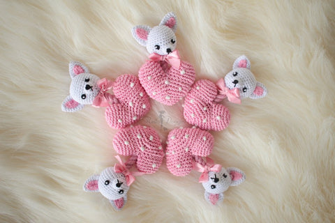 Crochet Chihuahua Heart Toy