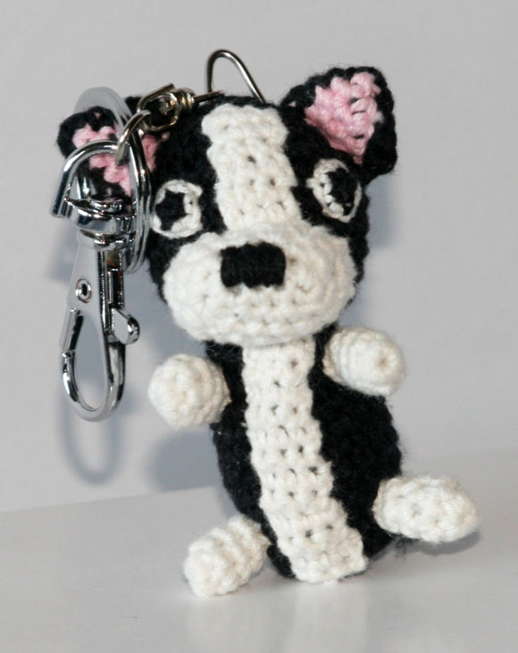 Hip Doggie Dog Star Collectible Key Chain-Boston Terrier-2Pk - Dawn's Doggy Duds