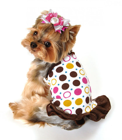 Polka Dot Party Dress - Dawn's Doggy Duds