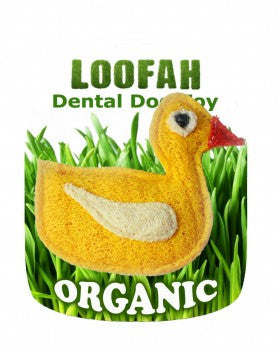Hip Doggie Duck Loofah Organic Vegetable Dental Toy-6 Pk - Dawn's Doggy Duds