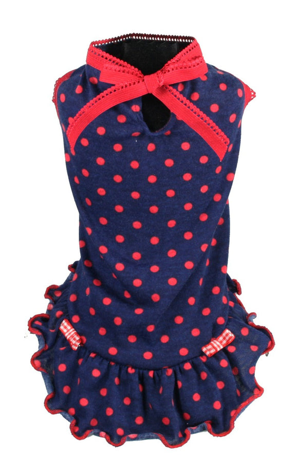 Betty Polka Dot Dress - Dawn's Doggy Duds