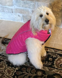 Featherlite Reversible-Reflective Puffer Vest Pink/White - Dawn's Doggy Duds