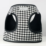 EZ Reflective Houndstooth Harness Vest - White/Black - Dawn's Doggy Duds