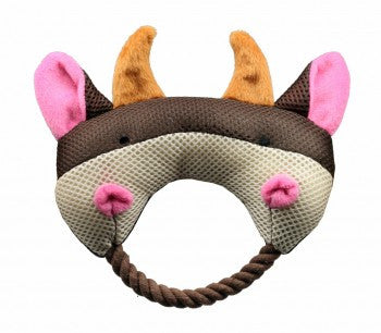 Hip Doggie Rope Head Bull Toy - Dawn's Doggy Duds