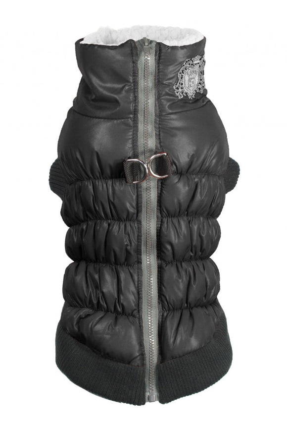 HD Crown Scrunchy Puffer Vest - Black - Dawn's Doggy Duds