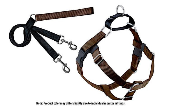 Freedom No Pull Harness Training Package (Brown/Black)
