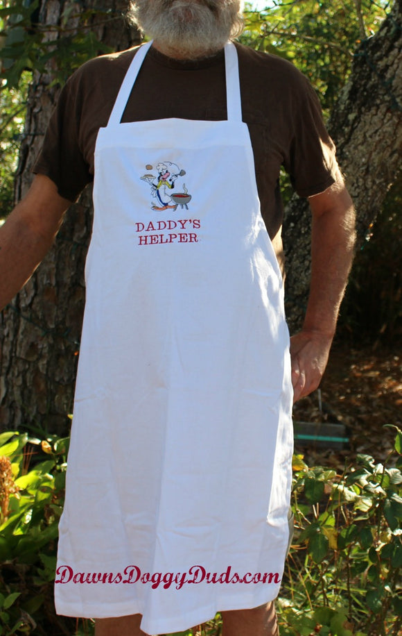 I Wanna Help Embroidered Chef Apron - Dawn's Doggy Duds