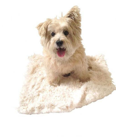 The Dog Squad Ivory Powder Puff Minkie Binkie Dog Blanket