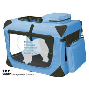 Extra Small Deluxe Soft Crate, Generation II - Ocean Blue - Dawn's Doggy Duds